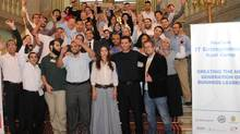 The 38 Egyptians entrepreneurs who participated in the NexGen IT Entrepreneur Boot Camp. (USAID/ECP)