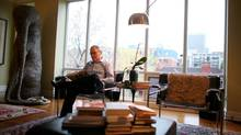 Robert Sirman, director of the Canada Council for the Arts, reads in his favourite place at his home in Ottawa. (Dave Chan/Dave Chan for The Globe and Mail)