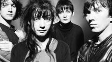 My Bloody Valentine (Kevin Shields, Debbie Googe, Colm O'Ciosoig and Belinda Butcher) \in the early 1990s. (Camera Press/Steve Double)