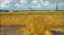 Detail from Vincent van Gogh's Wheat Field with Sheaves (1888; oil on canvas)