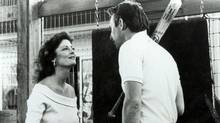 Kevin Costner and Susan Sarandon in a scene from Bull Durham