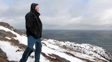 Ray Hawco stands on Signal Hill overlooking the Atlantic Ocean in St. John's, Friday, Feb.10, 2012. (Paul Daly/The Canadian Press/Paul Daly/The Canadian Press)