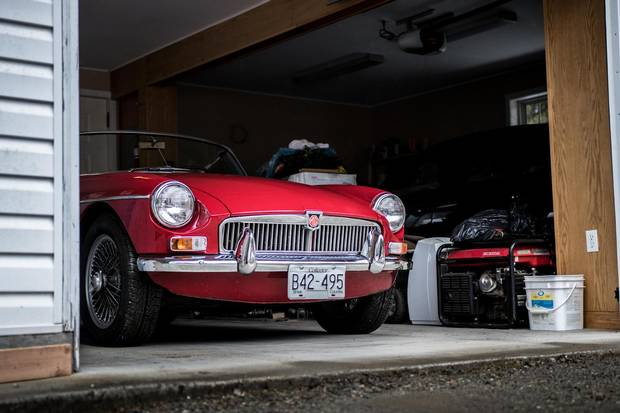 The MGB's ability to start on a given day would determine whether this car could be rolled out of the garage for a drive through the countryside.