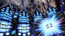 Samsung 3-D televisons are displayed in a room with a mirrored ceiling at the 2010 International Consumer Electronics Show (Justin Sullivan/2010 Getty Images)