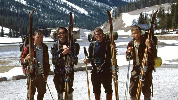 The 1967 traverse team, from left, was Don Gardner, Chic Scott, Charlie Locke and Neil Liske.