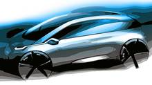Sketch of BMW's Megacity concept car (BMW)