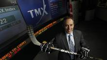Kevin Davis, CEO of Bauer Performance Sports Ltd., poses for a photo at the TMX Broadcast Centre in Toronto. (DEBORAH BAIC/THE GLOBE AND MAIL)