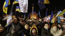 A Canadian businessman says Ukrainians 'want to live by European values of transparency.' (VASILY FEDOSENKO/REUTERS)
