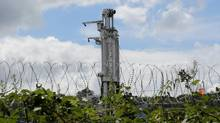The Cuadrilla drilling site is seen in Balcombe, southern England on August 15, 2013. (GARETH FULLER/REUTERS)