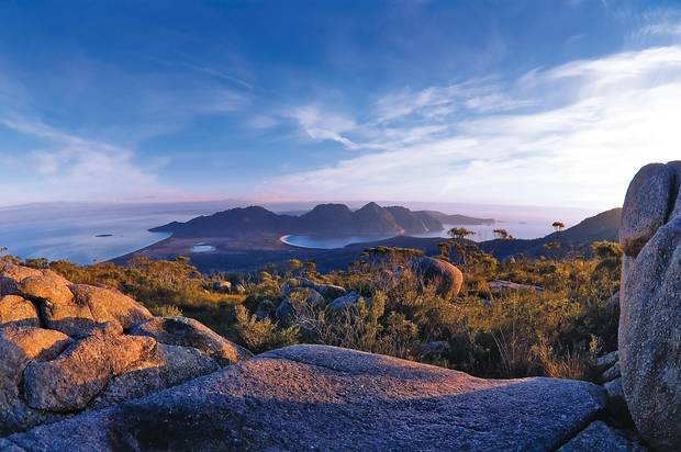 Wineglass Bay is one of Australia's most freqently photographed views and is consistently voted one of the world's best beaches. FREYCINET NATIONAL PARK, AUSTRALIA - Freycinet Experience Walk. Credit Great Walks of Australia
