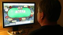 A man plays online poker in 2006 file photo. (Getty Images)