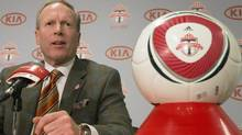 A soccer ball with the Toronto FC logo is seen in this file photo. (Chris Young/THE CANADIAN PRESS)