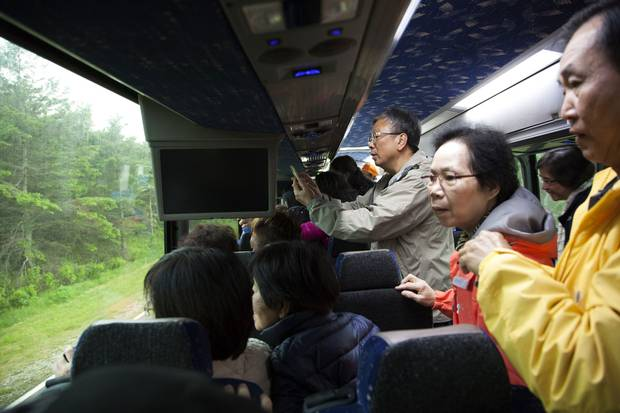 The group with Taipan Tours travelled some 4,638 kilometres in their journey from Toronto to Prince Edward Island and back.