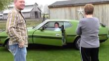 MUSCLE MEMORIES: And the award for best son in the world goes to a man who surprised his father with the ultimate nostalgia gift: his dad's first car, a 1972 Ford Mustang Mach 1. Rick Lookebill had sold the lime green beast in 1972, suffering regrets ever since. His son found the car in Florida, bought it and drove it home to Indiana. The look on dad's face is priceless when sonny revs up the Mustang, heralding its arrival home. (Do not repeat this stunt if your dad's first car was a Pinto.)