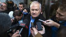 National Hockey League (NHL) Players' Association executive director Donald Fehr speaks to members of the media after dropping off a proposal at NHL headquarters in New York, January 2, 2013. (Reuters)
