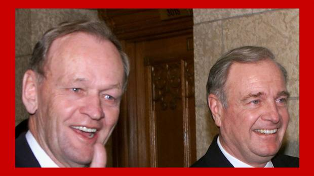 <p>Jean Chretien, left, and Paul Martin, 2000.</p>