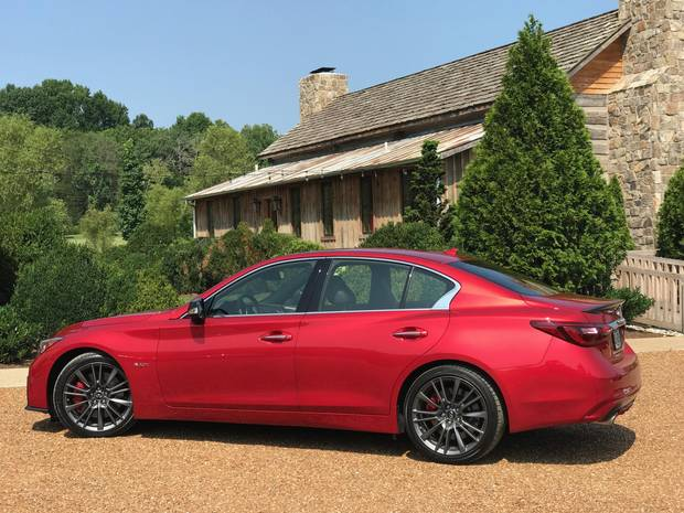 The 2018 Infiniti Q50 Red Sport in Tennessee.