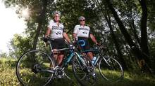 Ginny and Kerry Dennehy began cycling across Canada last May and plan to reach Newfoundland on Aug. 11. (CHRISTINNE MUSCHI FOR THE GLOBE AND MAIL)