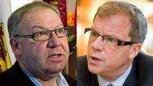 Nova Soctia Premier Darrell Dexter and Saskatchewan's Brad Wall are shown in a photo combination (The Canadian Press)