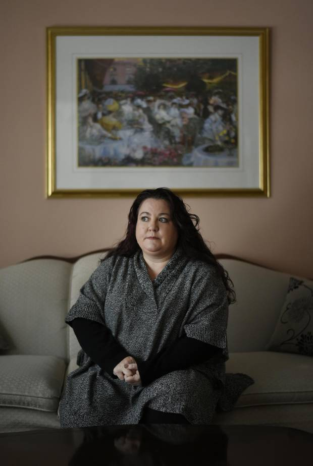 'It was literally four months of infection after infection,' Tracey Ceccarelli, above, says of her father's strongyloidiasis.