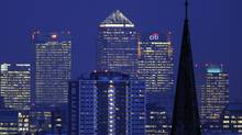 The Canary Wharf financial area of London. (TOBY MELVILLE/Toby Melville/Reuters)