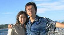 Jia-ming Li, left, is on trial in Beijing in connection with the 2002 death of his girlfriend, Amanda Zhao. (The Canadian Press)