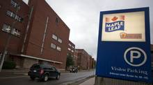 The Maple Leaf Foods plant in Kitchener, Ontario Wednesday on Oct. 19, 2011. (TIM FRASER FOR THE GLOBE AND MAIL)