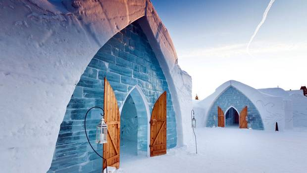 North America's original ice hotel, which opened just north of Quebec City in 2001, provides plenty of ways to stay warm.