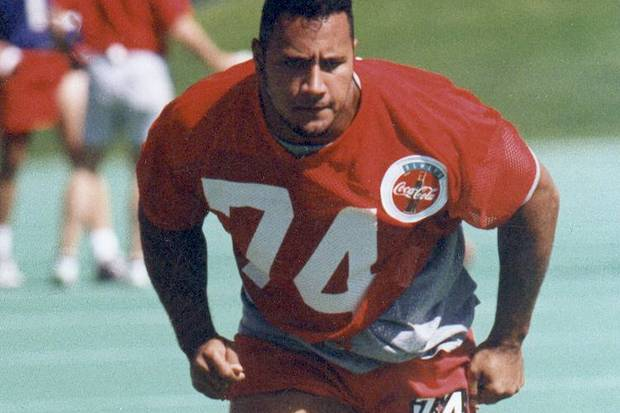 "eb2fdde24ad9f8 Dwayne ""The Rock"" Johnson s time playing for the Calgary Stampeders in 1995."