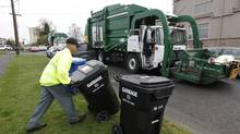 Waste Management is entering into venture partnerships with smaller firms to develop technologies to convert trash into useful products and energy. (Ted S. Warren/Associated Press/Ted S. Warren/Associated Press)