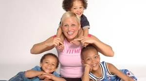 Andrea Page, founder of Fitmom, with her three kids