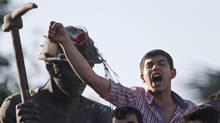 Anti-government protesters rally in Soma, Turkey on Friday – an area that has typically contained the Prime Minister's core constituency. (Lefteris Pitarakis/AP)