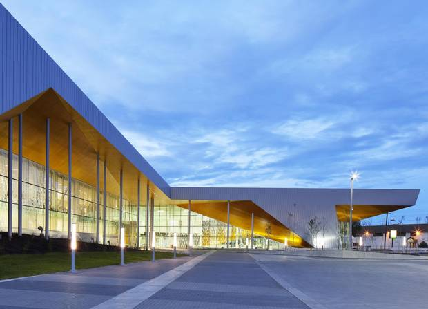 The Clareview Community Recreation Centre's artistic achievement only happened because its designers rearranged the city's existing urban design for the block