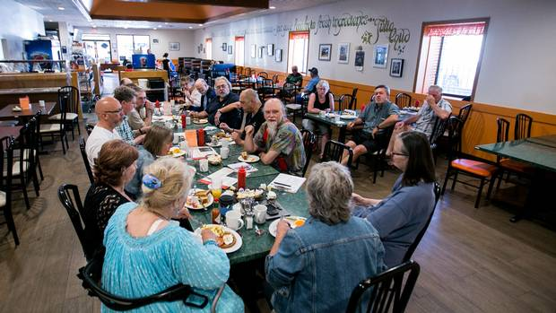 At 8 a.m. every Thursday morning, several Guelph city council members and their constituents talk politics over breakfast with their constituents at Breezy Corners restaurant.
