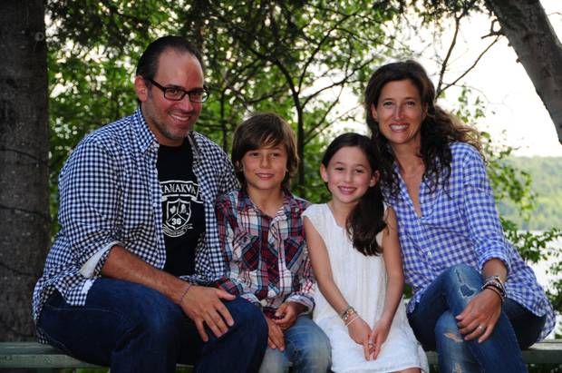 Author Margot Perlmutter and her family.
