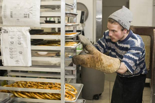 Delicious pretzels running the gamut from the traditional to artisinal are rolled and baked daily at Zwick's Pretzels.