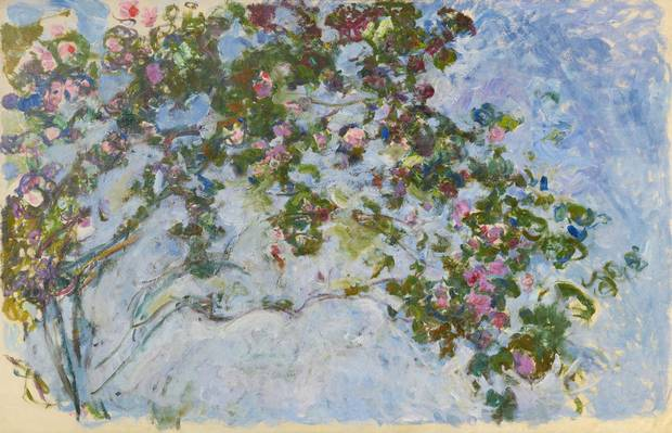 Claude Monet Les Roses, 1925–26 oil on canvas