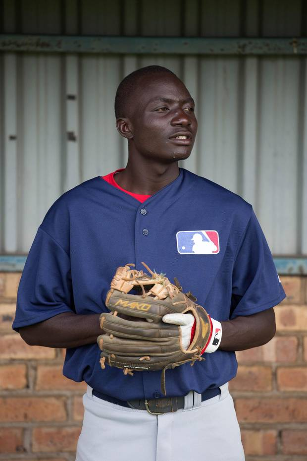 December 8, 2016. Dicken Okwenye (Uganda). Young African baseball players took part in Major League Baseball's