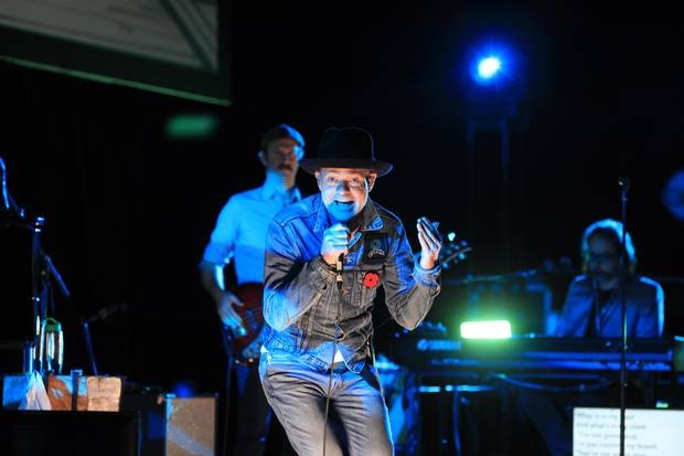 Gord Downie performs his new album Secret Path at the National Arts Centre in Ottawa.