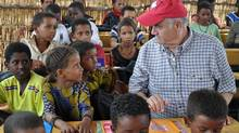Julian Fantino during a visit to a school in Mentao Refugee Camp in Burkina Faso run by CARE with CIDA support. (ACDI-CIDA/Germain Yaméogo)