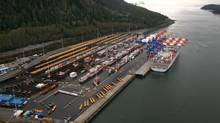 Companies have begun to look at export possibilities from Prince Rupert, B.C., where port lands are served by a Canadian National Railway Co. track that connects to Alberta. (Port of Prince Rupert Port Authority)