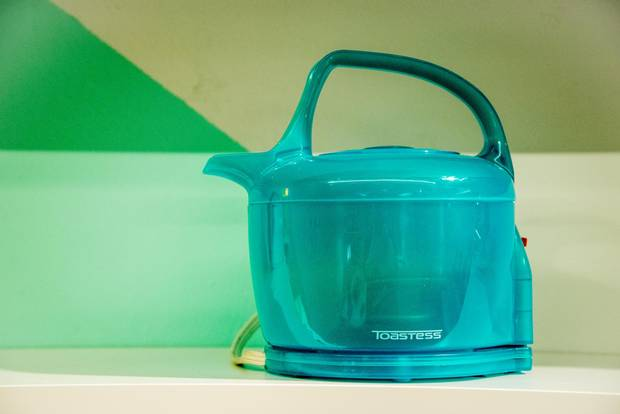 Toastess Electric Kettle, 1997: Designed by appliance heir Glenn Moffatt and made in Pointe-Claire, Que., this kettle was composed of candy-coloured injection-moulded polypropylene for a high-tech effect.