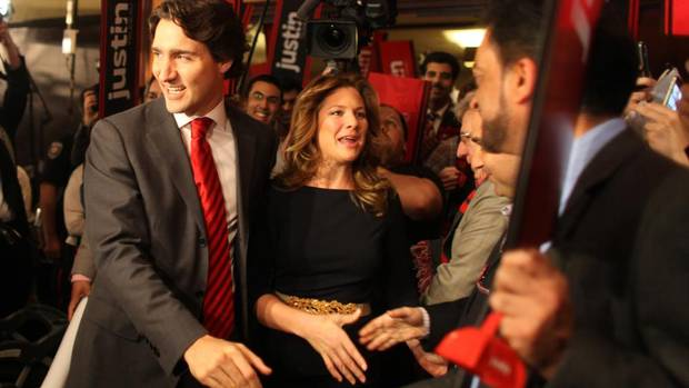 Now that Justin Trudeau is Liberal Party leader, that may officially make him and his wife, Sophie Gregoire-Trudeau, Canada's golden political couple -- for lack of a better alternative. (Dave Chan/The Globe and Mail)