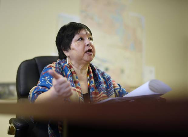 Elaine Johnston, Chief of the Serpent River First Nation is photographed at the band office on Dec. 19, 2016.