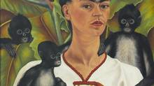 A detail from Kahlo's Self-Portrait with Monkeys, 1943. (The Jacques and Natasha Gelman Collection of Mexican Art)
