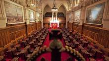 A view of the Senate chamber on Parliament Hill in Ottawa on Jan. 13, 2011. The Harper government will ask the Supreme Court of Canada to rule on the constitutionality of its Senate reform proposals. (Sean Kilpatrick/THE CANADIAN PRESS)