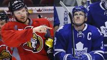 Jason Spezza, left, and Dion Phaneuf.