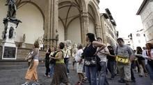 Explore Florence's Piazza della Signoria. (LORENZO GALASSI/AP)