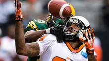 Emmanuel Arceneaux and the rest of the B.C. Lions offence have already doubled their turnovers from last year. (DARRYL DYCK/THE CANADIAN PRESS)