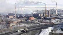 A general view shows the Norilsk Nickel plant in Russia's Arctic city of Norilsk. (ILYA NAYMUSHIN/REUTERS)